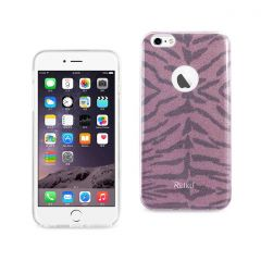REIKO IPHONE 6 PLUS/ 6S PLUS SHINE GLITTER SHIMMER TIGER STRIPE HYBRID CASE IN HOT PINK